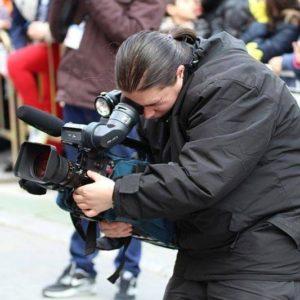 Operadora de cámara de vídeo