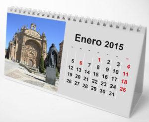 Calendario mesa espiral