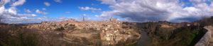 Fotografía panorámica de Toledo