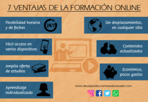 Infografía 7 Ventajas de la Formación Online