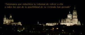 Fotografía Panorámica de Salamanca con inscripción