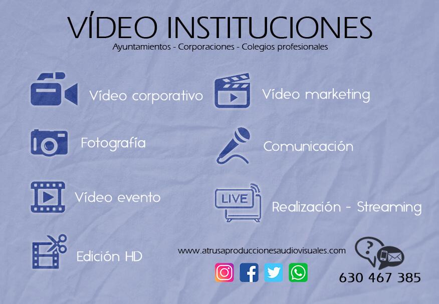 INFOGRAFÍA VÍDEO INSTITUCIONES