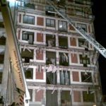 Fotografía derrumbe edificio
